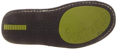 Groundhog Womens Center Cut Slip-on Svart Läder