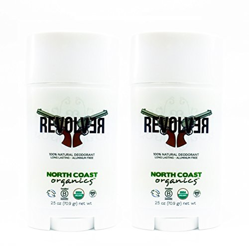 North Coast Organics Revolver Organic Deodorant (Pack of 2) With Coconut Oil, Shea Butter and Cedarwood, 2.5 oz Each
