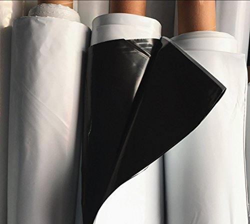 Black and White Panda/Reflective Film Greenhouse Polyethylene Covering for Plants Protection and Growing,Plant Cover &Frost Blanket for Season Extension, 4.6mil 6.5x75ft