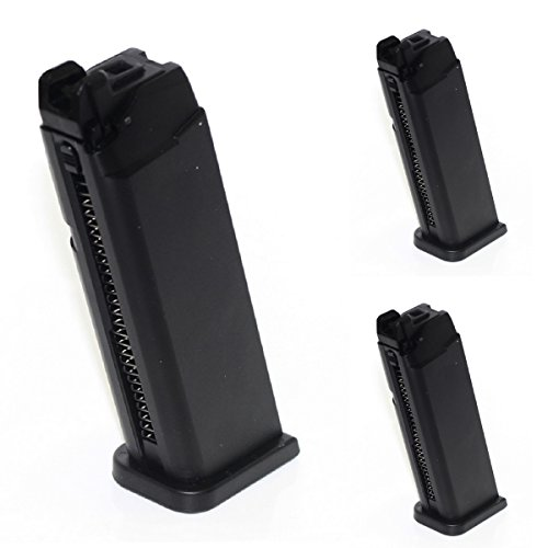 Airsoft Shooting Gear ARMY 3pcs 25rd Mag Magazine For ARMY R17/Marui GBB Pistol Black by Airsoft Shopping Mall