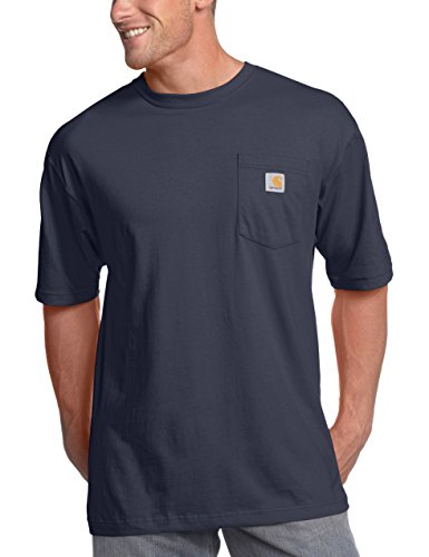Carhartt Men's K87 Workwear Pocket Short Sleeve T-shirt (Regular and Big & Tall Sizes), Bluestone, 4X-Large