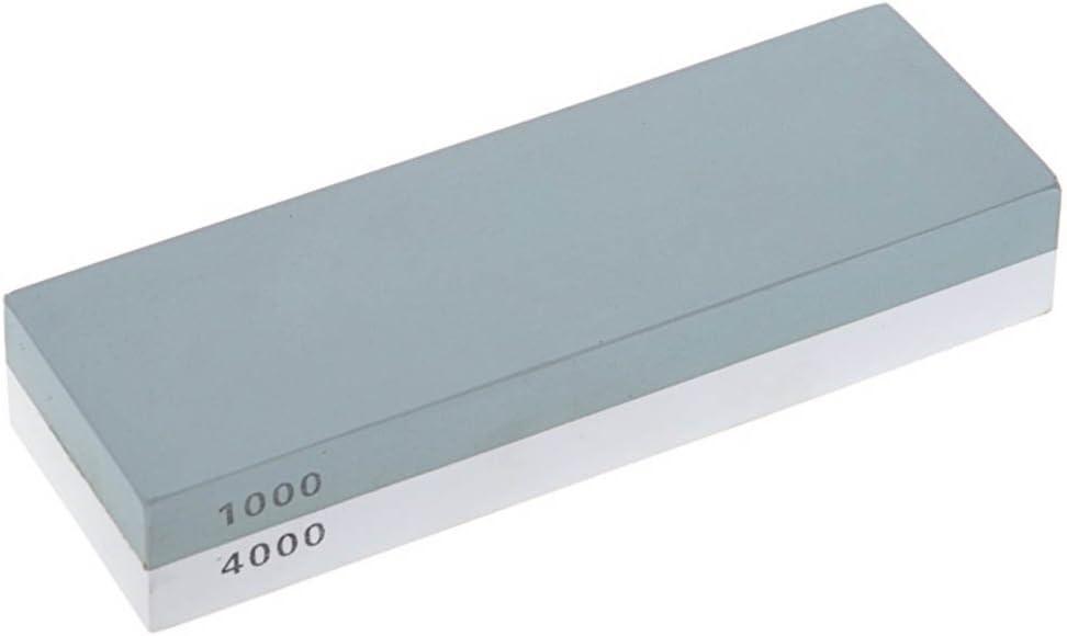 Pierre /à aff/ûter Double Grain 1000//4000 pour aiguiser et polisser Les Couteaux,avec Support en Silicone antid/érapant Idealeben Pierre /à aiguiser