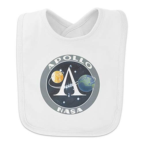 NASA Apollo Space Program Patch Baby Bib - White