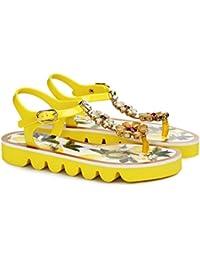 Dolce Gabbana Women's Fashion Sandals Yellow (7 B(M) US)