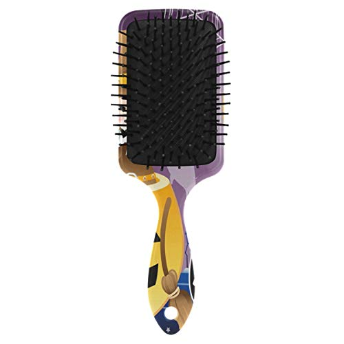 Halloween Background Design Hair Brush with Grip Handle Massage Scalp Plastic Hairbrush Detangler Vented Nylon Pins Air Cushion Tickling Comb Anti Static & Frizz, for Thick Curly Wet Dry Hair