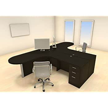 Amazoncom Two Persons Modern Executive Office Workstation Desk