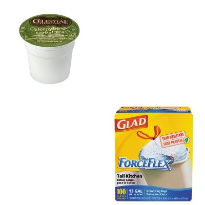 KITCOX70427GMT6505CT - Value Kit - Celestial Seasonings Tea K-Cups Sampler (GMT6505CT) and Glad ForceFlex Tall-Kitchen Drawstring Bags (COX70427)