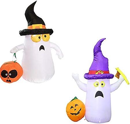 Una diversión para 5Foot alta de Halloween inflable Fantasma con la calabaza y el martillo con luz p