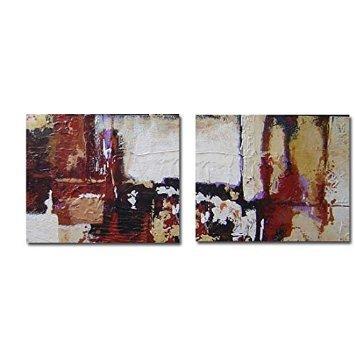 cuadros dpticos modernos pintados en lienzos grandes dimensiones decora tu hogar con arte abstracto