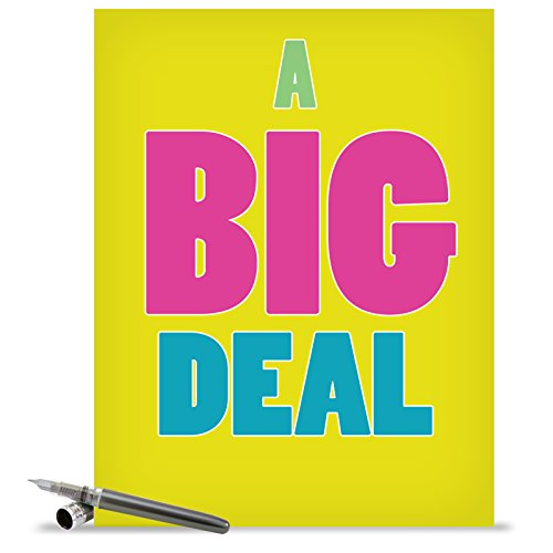 J1430K Jumbo Funny Blank Congratulations Card: A Big Deal With Envelope (Extra Large Version: 8.5'' x 11'')