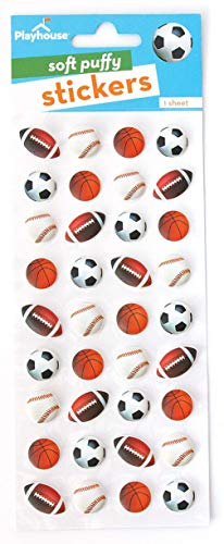 - Playhouse Play Ball Mini Soft Puffy 36-Piece Sticker Sheet