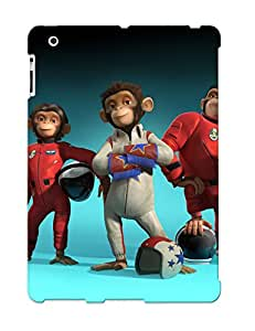 Tpu Case Cover For Ipad 2/3/4 Strong Protect Case - Entertainment Cartoon Pace Chimp 2008 Design