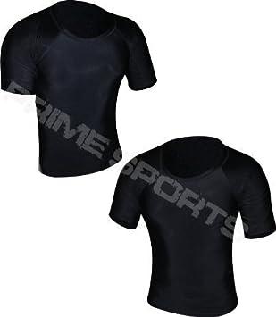 Prime Camiseta De Neopreno Chaleco MMA Correr Pelea UFC Camiseta De Manga Corta Hombre Boxeo Negro Media Manga Grande: Amazon.es: Deportes y aire libre