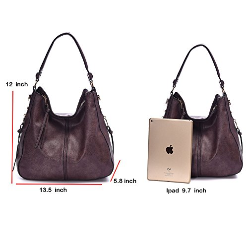 DDDH Vintage Hobo Handbags Shoulder Bags Durable Leather Tote Bags ... 205faf073d9a6