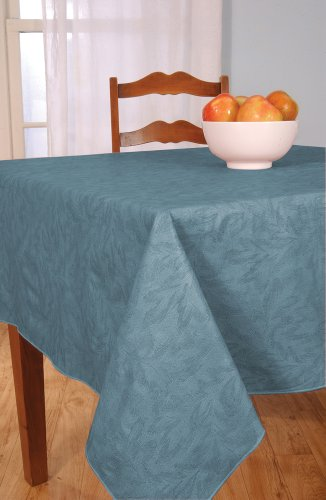 Sonoma Damask Print Flannel Backed Vinyl Tablecloth 52x90