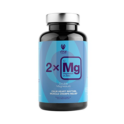 (Double Magnesium – Best Absorption, Double Source, Magnesium Citrate and Magnesium Carbonate. Daily Dose Pills Provide 250 mg Super Quality Magnesium. 90 Veggie Capsules, 45 Day Supply )