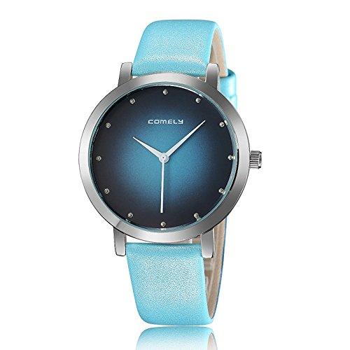 Marcas reloj de pulsera de cuarzo barato moda temperamento pequeño fresco hombres y mujeres reloj de pulsera cuarzo color Whit: Amazon.es: Relojes