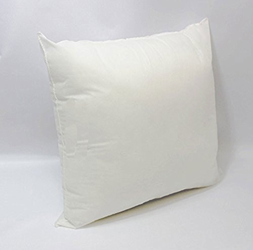 Mybecca 12 X 12 Premium Hypoallergenic Stuffer Pillow Insert Sham Square Form Polyester,Standard/White -MADE IN USA - Standard Square Pillow