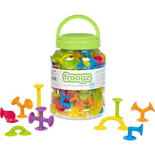 - Froogz - 100 Piece Suction Toy Construction Set | Educational Building Kit
