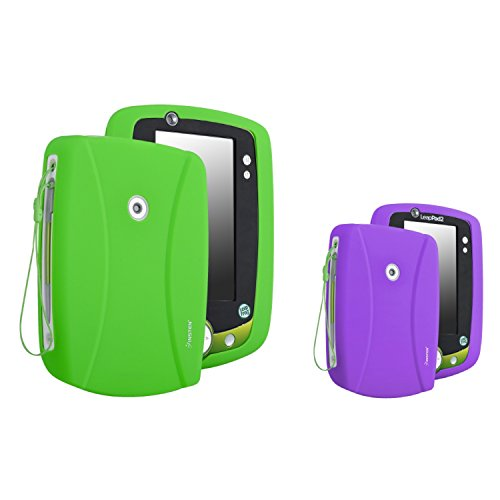 Everydaysource Compatible With Leapfrog LeapPad 2 Green Silicone Skin Case + Purple Silicone Skin Case