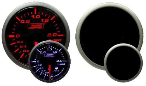 Metric BAR Boost Gauge- Electrical Amber/white Premium Series with Peak Recall and Warning 52mm (2 (Metric Boost)