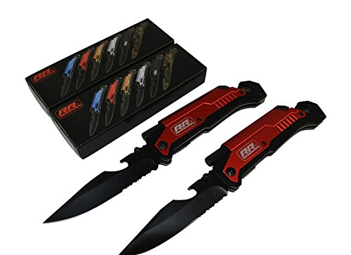 2x-2-NEW-Rogue-River-Tactical-Rescue-Knives-Best-Red-6-in-1-Multitool-Survival-Pocket-Knife-with-Magnesium-Fire-Starter-LED-Flashlight-Bottle-Opener-Seat-Belt-Cutter-and-Windows-Breaker