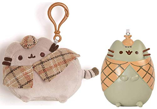GUND Pusheen Plush Backpack Clip Detective Bundle with Detective ()