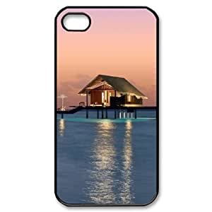 Beautiful Maldives Custom Cover Case with Hard Shell Protection for Iphone 4,4S Case lxa#470299