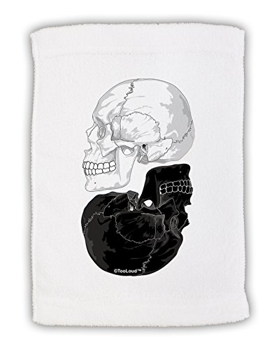 TooLoud White and Black Inverted Skulls Micro Terry Sport Towel -
