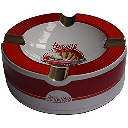 Old Havana Cars Cigar Ashtray - Red Velvet (10'' x 3 1/4'') by H&H