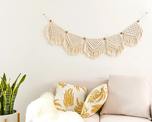 Mkono Macrame Banner Wall Hanging Home Decor, 7