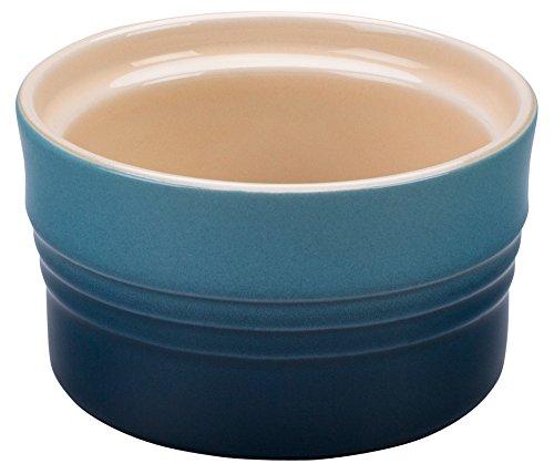 Le Creuset 積み重ねられる炻器ラミキン 7 oz. ブルー 607319-PG1627-096M B01MS5RTF2 マリン マリン