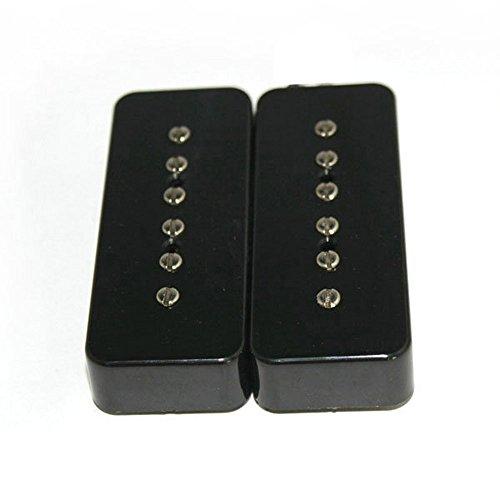 Fastmusic Black P-90 Soap Bar Single Coil Guitar Bridge & Neck Pickups Set