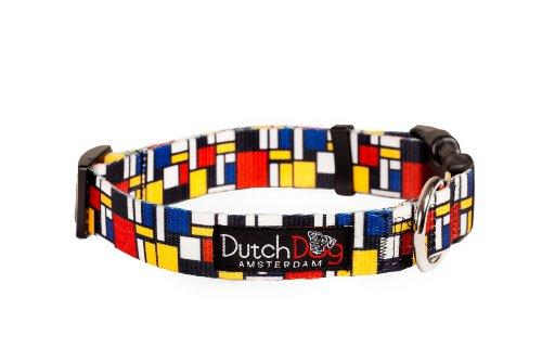 Dutch Dog Amsterdam Eco Friendly Mondrian Dog Collar, 15-20-Inch, Medium, My Pet Supplies