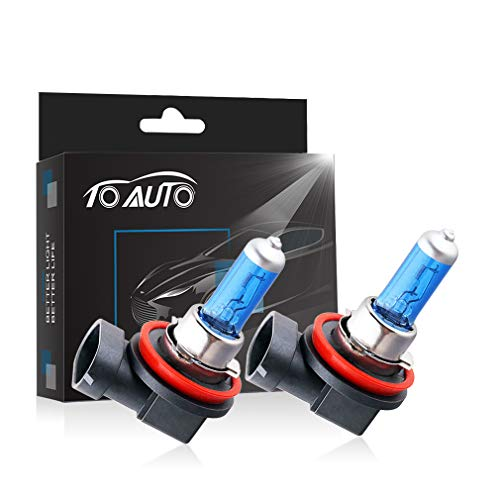 TOAUTO 2 X H11 55W 12V Car Headlight Lamp Halogen Light Super Bright Fog Xenon Bulb ()
