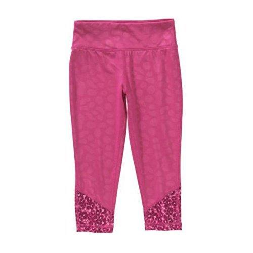 (Danskin Now Girls' Active Legging Capri  Pink X-Large (Pink))