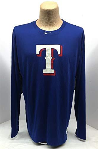NWT NIKE Tee Men's Texas Ranger Long Sleeve Shirt 878143 Authentic Collection XL