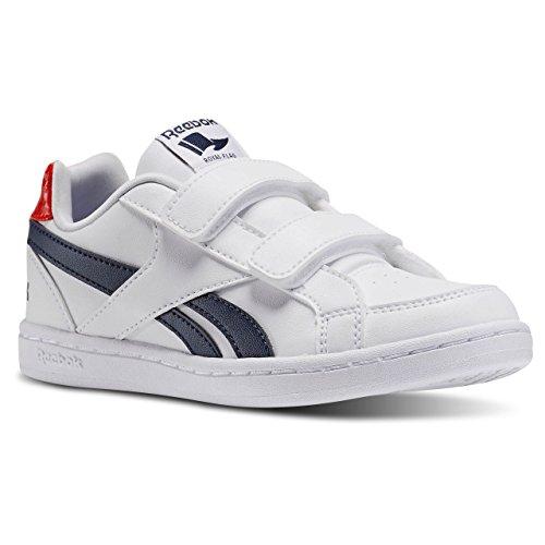 Reebok Royal Prime Alt, Zapatillas de Deporte Para Niños Blanco / Azul / Rojo (White/Navy/Motor Red)