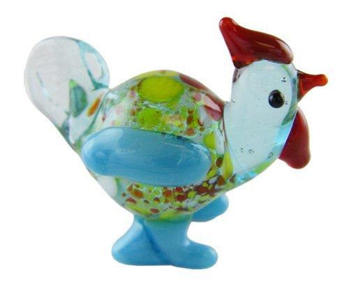ines-Glass Zoo Figurine Animals - Spotted Turkey ()