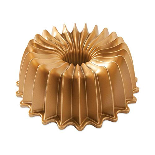 Nordic Ware 85777 Brilliance Bundt Pan, One Size, Gold