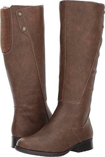 LifeStride Women's Xripley Riding Boot, Dark tan, 7 M US