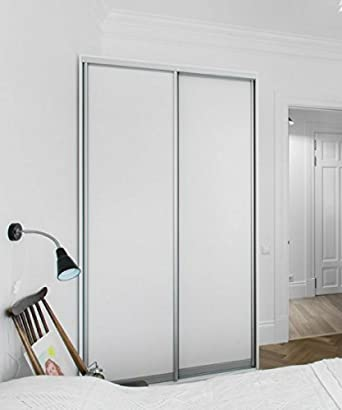 Ordinaire Melamine Sliding Door For Closet, 2 Panels, White Color, 48 X 80u201d