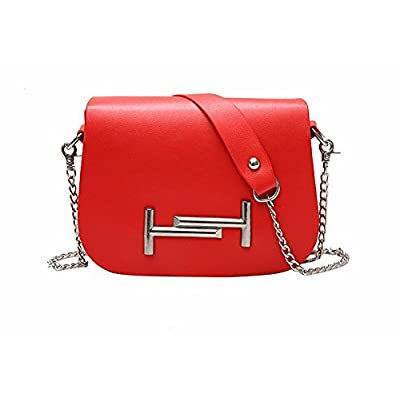 2017 fashion new chain double T female bag oblique hand pull