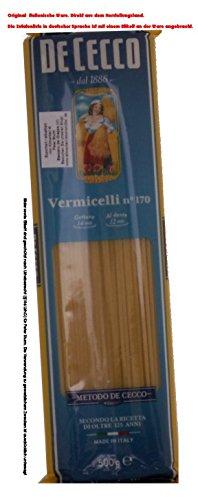 De Cecco Vermicelli n° 170 8 x 500g = 4000g Teigwaren aus Hartweizengrieß