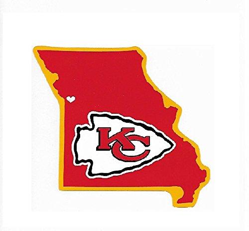 (Rico Industries NFL Kansas City Chiefs Home State Sticker)