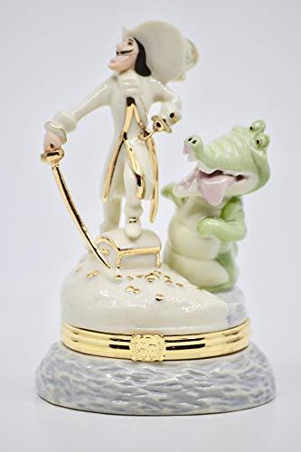 Disney/Lenox China Treasures - Captain Hook and Croc Treasure Box - From Peter Pan - Rare - Collectible