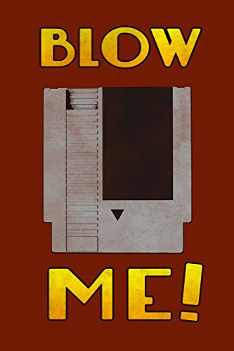 Blow Me Throwback Retro Video Game Console Red Poster 12x18 inch - Ms Pac Man Ps2