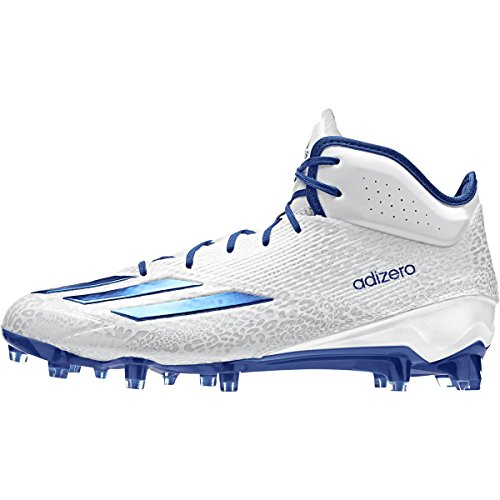 Adidas Performance Mens Adizero 5-star 5.0 Mid Football Shoe White-royal