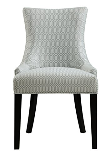 Pulaski Modern Upholstered Dining Chair in Geo Mist, Multicolor (Upholstered Side Chairs)