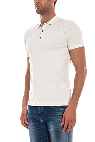ARMANI JEANS AJ - Polo Hombre B6M93BS-Cam White Polo Sample L ...